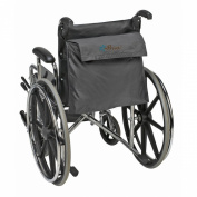 Priva Black Nylon Wheelchair Bag with hook and loop Closure and Exterior Pocket, 48cm x 37cm