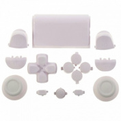 Mod Freakz Thumbsticks Dpad Home Touch Pad Replacement Full Button Set for PS4 Controller, White 17892