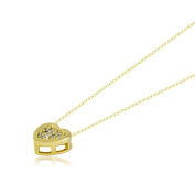 Minimalist Small Heart Necklace, Chic CZ Necklace Charm, Valentine Gift, Plated Gold Necklace Romantic