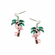 SEA LIFE Flamingo Dangle Post Earring / AZERFH701-GPI