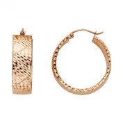 14k Yellow Gold 7mm Thickness Hoop Earrings