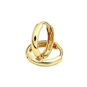 14k Yellow Gold 2mm Thickness Huggies Earrings