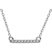 .07 CTW Diamond Bar 41cm - 46cm Necklace in 14k White Gold