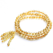 Natural Golden Hair Crystal Bracelet 108 Prayer Beads