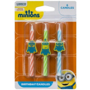Minions Birthday Cake Candles - 6 pc