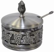 L'Shanah Tovah Happy & Healthy Decorative Dish Pewter/Glass 44121K - 8.9cm H