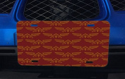 Red Triforce Pattern Aluminium Licence Plate for Car Truck Vehicles