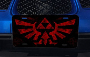 Red Triforce Aluminium Licence Plate for Car Truck Vehicles