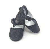 Black Glitter Shoes Shoe for 46cm Dolls
