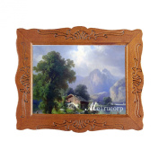 1/12 Fine Scale Miniature Print of Mountain with Wood Framed for Dollhouse Decoration