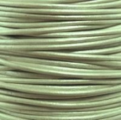 """#49 Metallic Shell Round Leather Cord 1mm (1/32"""") x 10 m"""