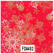 "Decopatch Decoupage Paper Mache ""Christmas Red White Gold Snowflakes 1220cm"
