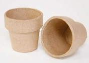 Package of 12 Ready to Decorate Mini Paper Mache Flower Pots for Crafting, Creating and Projects