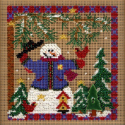 Mill Hill Winter Whimsey Winter Buttons and Beads Counted Cross Stitch Kit, 13cm by 13cm
