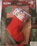 Bucilla Snow People Christmas Stocking Cuff Counted Cross Stitch Kit