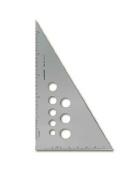 Alumicolor Aluminium Calibrated Triangles 25cm . 30/60/90