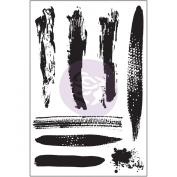 Prima Marketing Cling Stamp 10cm x 15cm -Brush Strokes