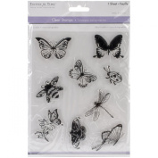 Multicraft Imports CS220-W Clear Stamps 5.5X7 Sheet-Flying Friends