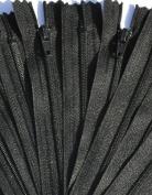 ZipperStop Wholesale Authorised Distributor YKK® SALE 20cm Zipper Nylon Coil Zippers (special) ~ Closed Bottom ~ 580 Black