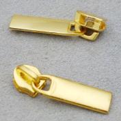 Bluemoona 50 Pcs - Slider Pull #3 Moulded Zipper Puller 4 Repair Replace Kit Stop B