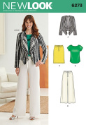 Simplicity Creative Patterns New Look 6273 Misses' Jacket, Top, Pants and Skirt, A