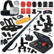Xtech® Premium GoPro Hero Accessory KIT for GoPro Hero4 Session, Hero4 HERO 4, Hero 3, Hero 3+ Hero 2 Hero2 and All GOPRO HERO Cameras Includes