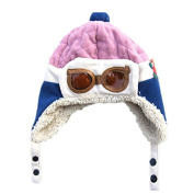 BuyHere Unisex-Baby Aviator Earflap Cap,Pink