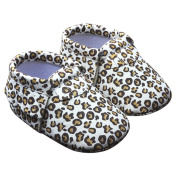TANGDA Infant Baby Toddler Newborn Leather Soft Sole Tassel Pre-Walkers Shoes Moccasins Slip-on Crib Shoes White Leopard Size 12