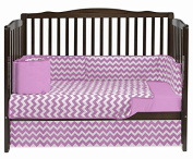 Baby Doll Chevron Dot Crib Bedding, Pink