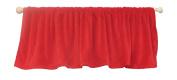 Ozark Mountain Kids Red Minky Curtain Valance