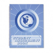 Ward SA98 Student Assignment Book, 40 Weeks, 11 x 8-1/2, Laminated Cover