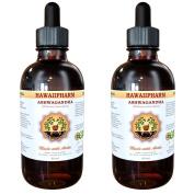 Ashwagandha Liquid Extract, Organic Ashwagandha (Withania Somnifera) Dried Root Tincture Supplement 2x60ml