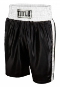 TITLE Classic Edge Satin Boxing Trunks