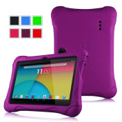 Fintie Ultra Light Weight Shock Proof Kiddie Case for 18cm Tablet inclu. Dragon Touch Y88X Plus 7, Alldaymall A88X 7, NeuTab N7S Pro / N7 Pro 7, NPOLE Tablet 7 (Compatible List in Description), Purple