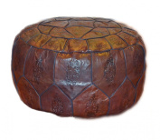 Egyptian Morrocan Handmade Genuine Leather Ottoman Pouffe Xl