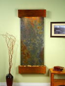 Adagio Inspiration Falls Fountain w/ Rajah Natural Slate in Rustic Copper Finish