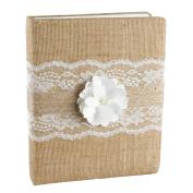 Ivy Lane Design Rustic Garden Wedding Memory Book, White
