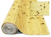 1.2m x 2.4m Bamboo Wall or Ceiling Panelling Natural Burnt Wainescoting
