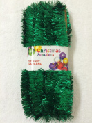 Green Foil Tinsel Christmas Garland 1800cm