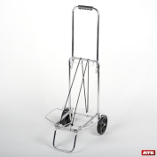 Luggage Cart, Metal Rolling Luggage Cart,Folding Storable Luggage Roller