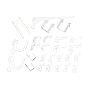 Wall Control KT-200-DLX W Slotted Storage Panel Deluxe Hook Assortment, White