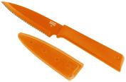 Kuhn Rikon Colori+ Serrated Paring Knife, 10cm , Orange