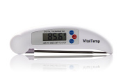 Vital Temp Digital Cooking Thermometer - Instant Read, Long 7cm Collapsible Probe, Hygienic Plastic Design, Three Button Operation, 100% Lifetime Guarantee! Wide Temperature Range of -50~300C