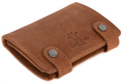 "Gusti Leder studio ""Ben"" Genuine Leather Wallet Vintage Purse Money Cash Notes Coins Card Holder Chain Unisex 2A13"