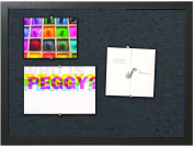 MasterVision Fabric Bulletin Board, 46cm x 60cm , Black Frame