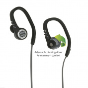 Scosche sportCLIP 3 Sport Earbuds With Adjustable Pivoting Drivers, tapIT Remote and Mic