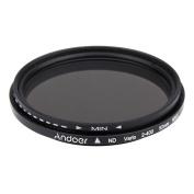 Andoer Andoer 52mm ND Fader Neutral Density Adjustable ND2 to ND400 Variable Filter for Canon Nikon DSLR Camera