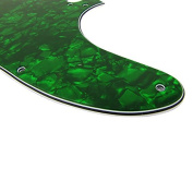 Musiclily Tele Pickguard for US/Mexico Made Fender Standard Telecaster Modern Style Electric Guitar,4Ply Pearl Green