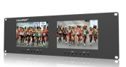 LILLIPUT RM-7024 Dual 18cm 3RU Rack Monitors 800X480 With dual 18cm screens and dual Dual VGA, Video & DVI in/outputs by LILLIPUT OFFICIAL SELLER :VIVITEQ