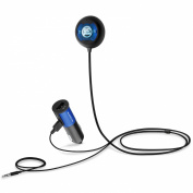 GOgroove BlueGATE CTR Hands-Free Bluetooth Car Kit with NFC Compatibility, Music Control, Voice Command and Volume Amplifier - Works with Apple , for for for for for for for for for Samsung , Sony and More Smartphones and Tablets